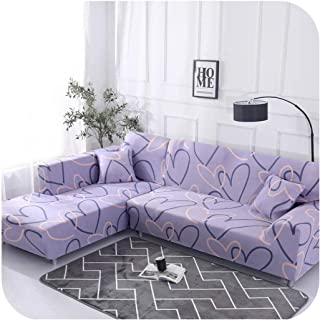 Diremo Geometric Pattern 1 Piece/ 2 Pieces Sofa Cover for L Shaped Sectional Sofa Couch Cover Sofa Towel Sofa Covers for Living Room,Color 1,3-Seater 190-230cm
