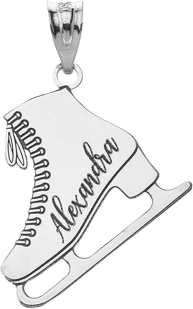 Personalized Name Sterling Silver Ice Skate Sports Charm 2021 spring and summer new Winter New sales