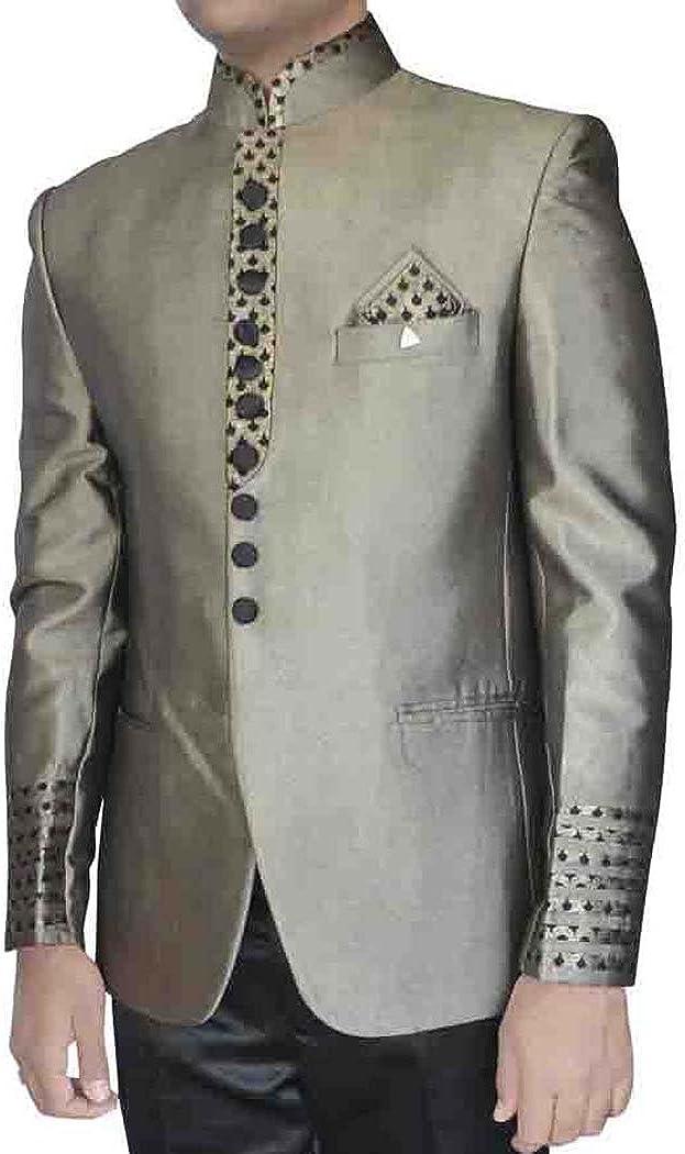INMONARCH Turquoise Mens Nehru Collar Tuxedo Suit TX5059S34 34 Short Turquoise