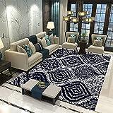 LBMTFFFFFF Alfombra para salón o dormitorio o noche, moderna, 120 x 160 cm