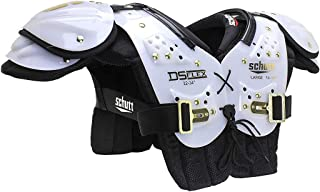 Schutt Sports DS Flex 2.0 All-Purpose Youth Football Shoulder Pads, White/Gold