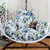 Wicker Rattan Hanging Egg Chair Pads, Multicolor Non-slip Soft Swing Chair Cushion Without Stand Indoor Balcony Pad Garden Wicker Rattan Hanging Egg Chair Pads, Multicolor Non-slip Soft Swing Chair Cu
