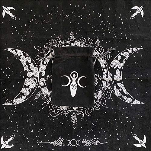 49x49cm Tarot Card Cloth, Mantel para Jugar A La Astrología Naipes Juego...