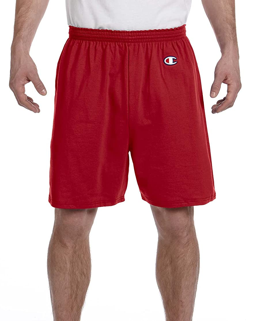 褐色フィードバック盲信Champion SHORTS メンズ US サイズ: Small カラー: レッド