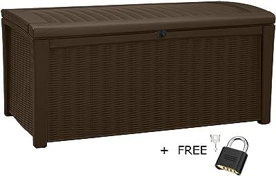 Amazon Com Keter Rockwood Plastic Deck Storage Container