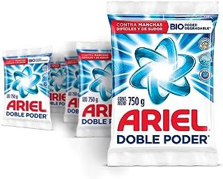 Ariel Detergente En Polvo Ariel Doble Poder 3.75Kg, 5 Unidades de 750G.