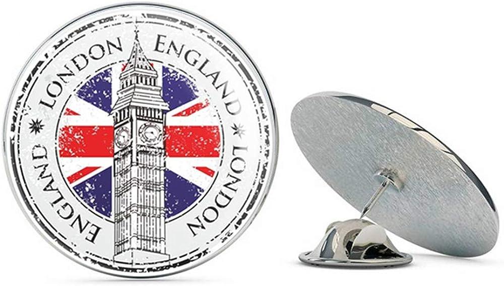 London England UK Round Metal 0.75