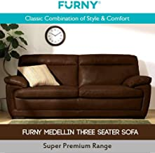 Furny Medellin Superb Three Seater Leatherette Sofa (Coffee Brown)