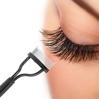 Somotoos lEyelash Comb Lash Separator Mascara Lift Curl Metal Brush Beauty Makeup Tool (Black)