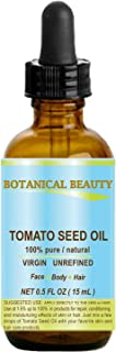 Sponsored Ad - TOMATO SEED OIL. 100% Pure/Natural/Virgin/Undiluted/Cold Pressed for Skin, Hair and Lip Care. 0.5 oz.- 15ml.