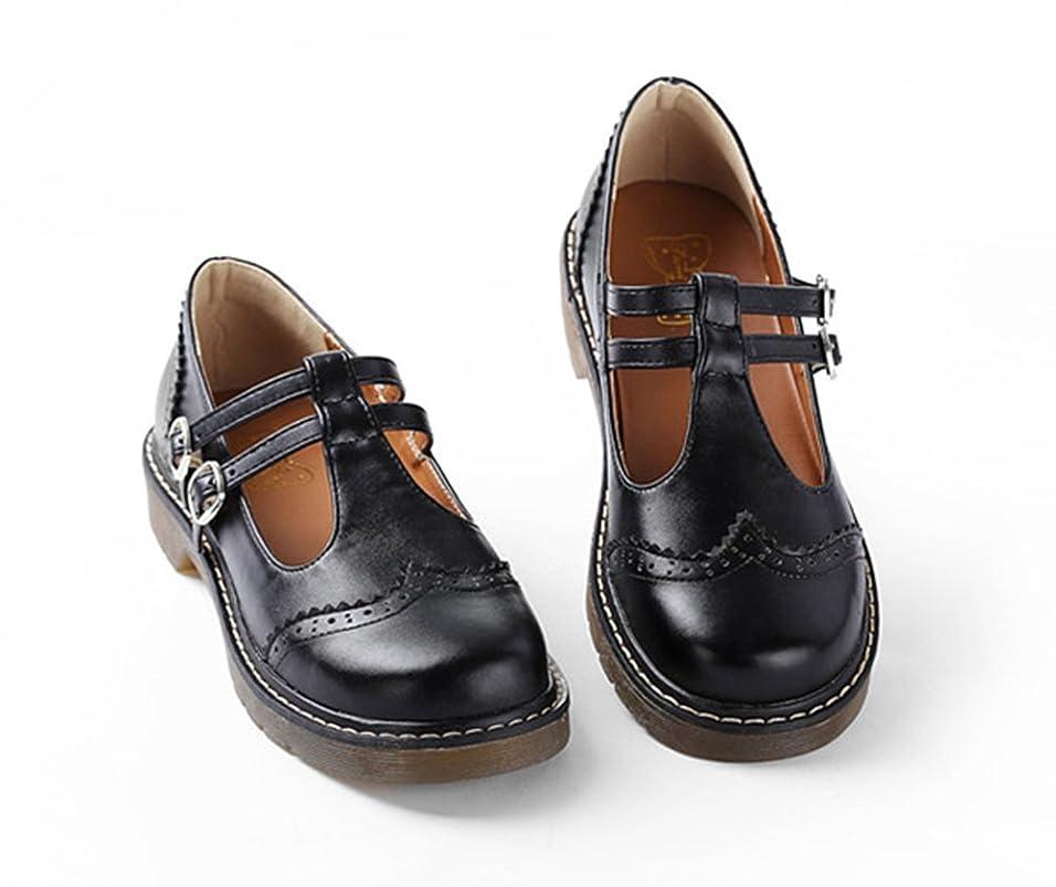 エジプト人ラベル南[Banlan] レディース ロリータ靴 パンプス LOLITA シューズ 学生靴 スクール ローファ フォーマル 靴 シューズ 可愛い 美脚 萌え ラウンドトゥ レトロ 学生風 ガールズ