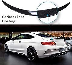 YOUNGERCAR Trunk Spoiler for 2015-2019 Mercedes Benz W205 C Class C180 C200 C250 C300 C63 C43 2 Door Coupe Carbon Fiber Coating Rear Trunk Wing