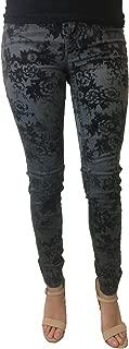 Women's Joyrich Taylor Smoke Faux Velvet Floral Printed Skinny Jeans