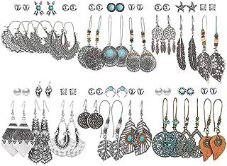36 Pairs Fashion Drop Dangle Earrings Set for Women Girls...