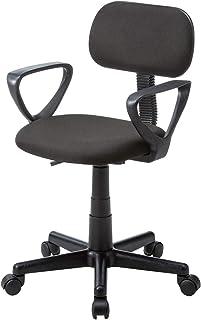 サンワサプライ 肘掛け付きオフィスチェア/デスクチェア ブラック SNC-A1ABK