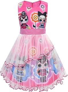 Muñecas de LOL Vestido de niña Cuello Redondo sin Mangas