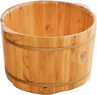 Qing MEI Foot Tub, Foot Bath Barrel Wooden Barrel Footbath Tub Thickened Widening Tub A++