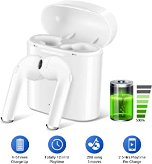 $99 » Bluetooth 5.0 Wireless Sports Earphones with Charging Case,Earbuds Stereo In-Ear Wireless Headphones Built - in Mic Headset Premium Sound