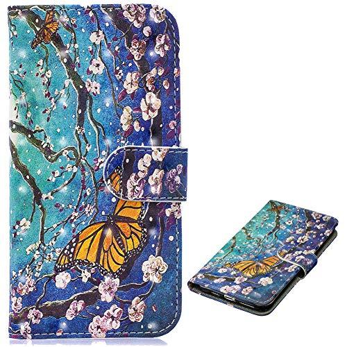 Stand Funktion für Samsung J6 2018,Ledertasche Bling Glitter Glitzer Diamond Musterg Slim Retro Modisch Karteneinschub Magnetverschluss Flip Wallet