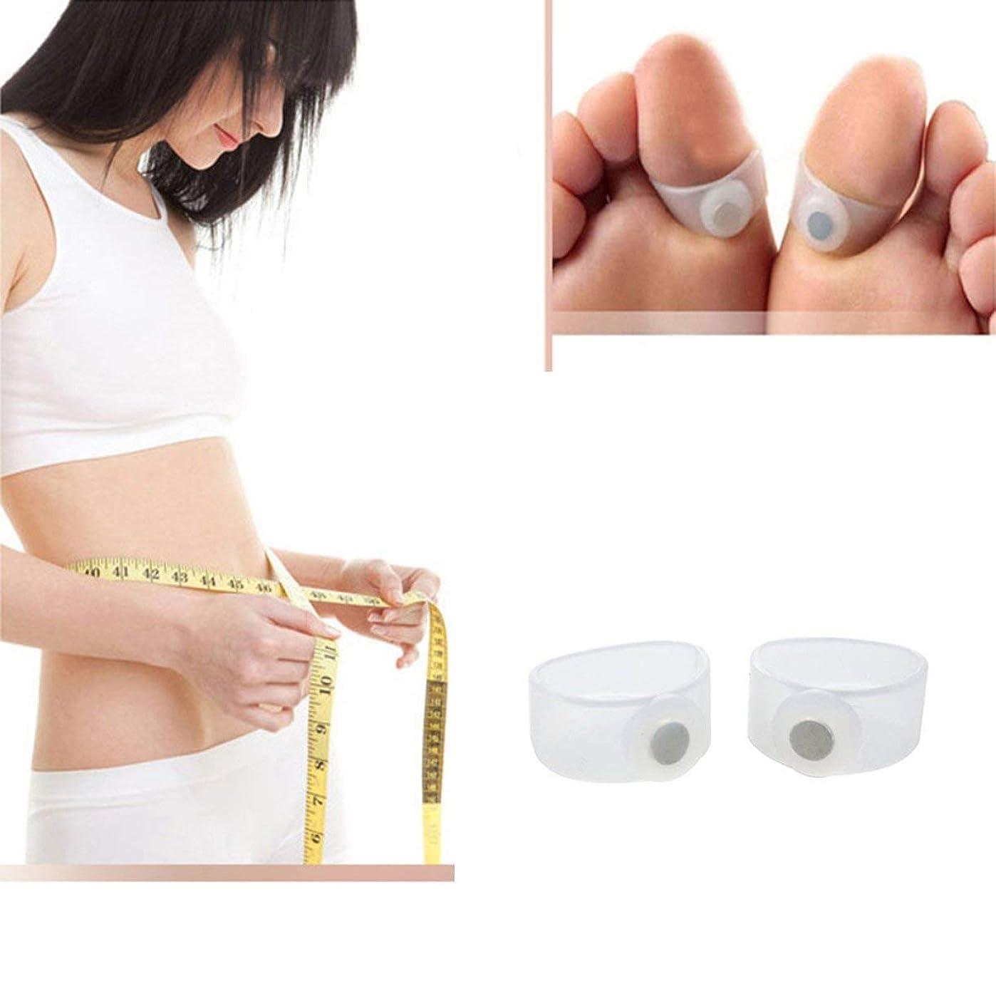 温度計赤道引き出し痩身シリコン磁気フットマッサージャーマッサージリラックスつま先リング減量健康ツール美容製品
