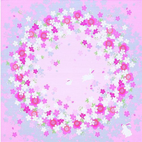 Yu-soku FUROSHIKI Japanese Wrapping Cloth (Cherry blossom circle:Rabbit)