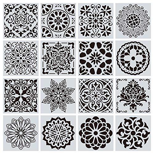 Fancylande schildersjablonen, mandala-patroon, hol schilderwerk, modelschilderij, mandala schilderen, liniaal met holle ruimte patroon
