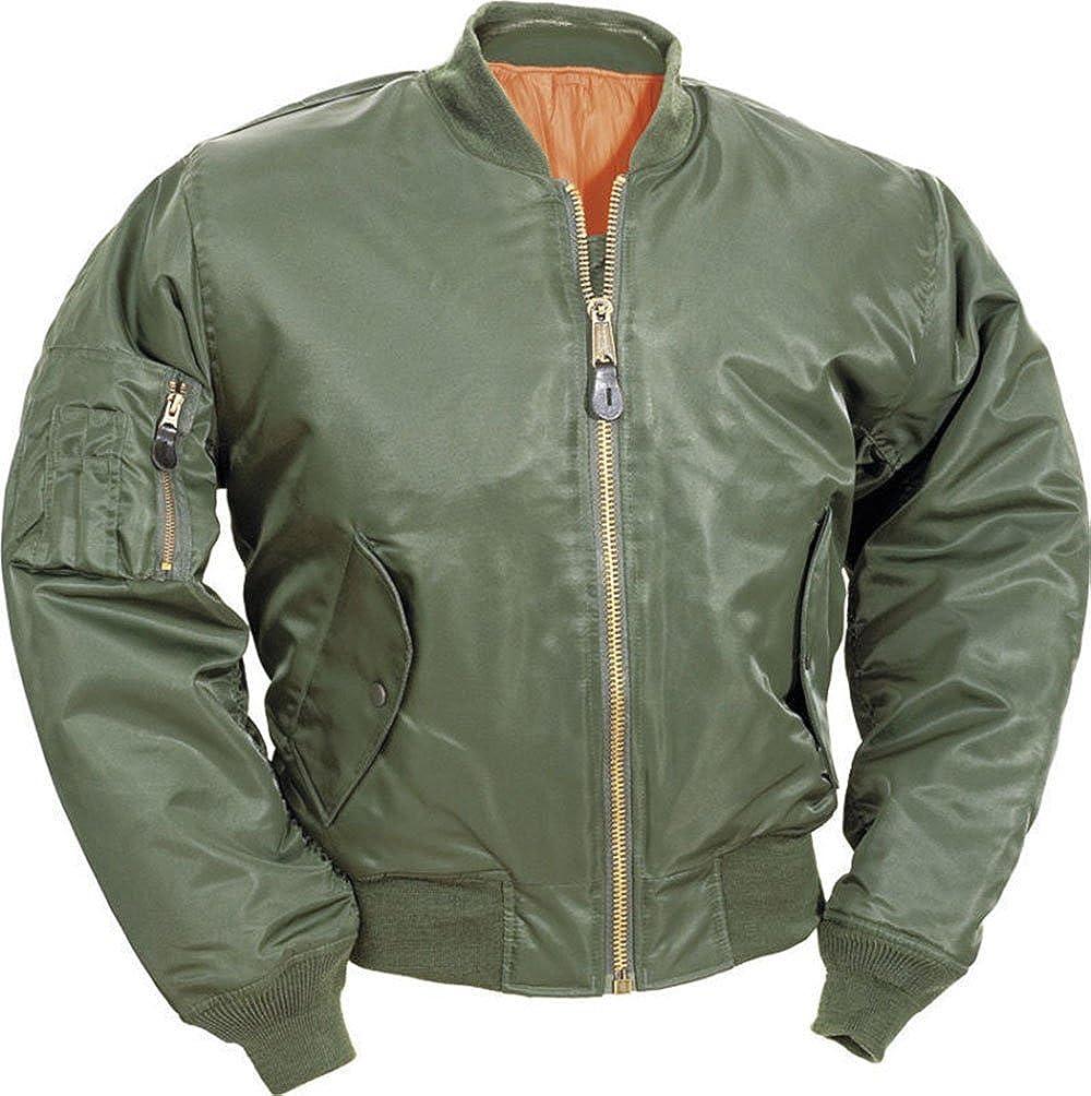 Forever Men Hi Viz Flight Bomber Pilot Military Army Security Workwear Doorman Jacket
