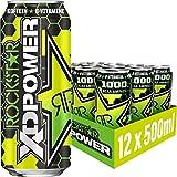 Rockstar XD Power Waldmeister Boost – Koffeinhaltiges Erfrischungsgetränk mit 1000mg BCAA Aminos für den Energie Kick – 12 x 0,5l