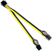 XT-XINTE CPU 8Pin to Graphics Video Card Double PCI-E PCIe 8Pin (6Pin + 2Pin) Power Supply Splitter Cable Cord 15cm