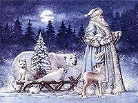 キャンバス絵画壁アート 漫画のクリスマス 絵画 装飾画 壁飾り アートパネル インテリアアート壁ポスター
