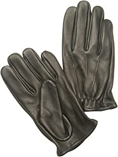 Napa Deerskin Super Short Police Style Gloves (Black, X-Large)