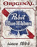diaolilie Pabst Blue Ribbon Old Beer Metal Store Pub Brew Shop Bar Pub Metal 8 x 12 Sign