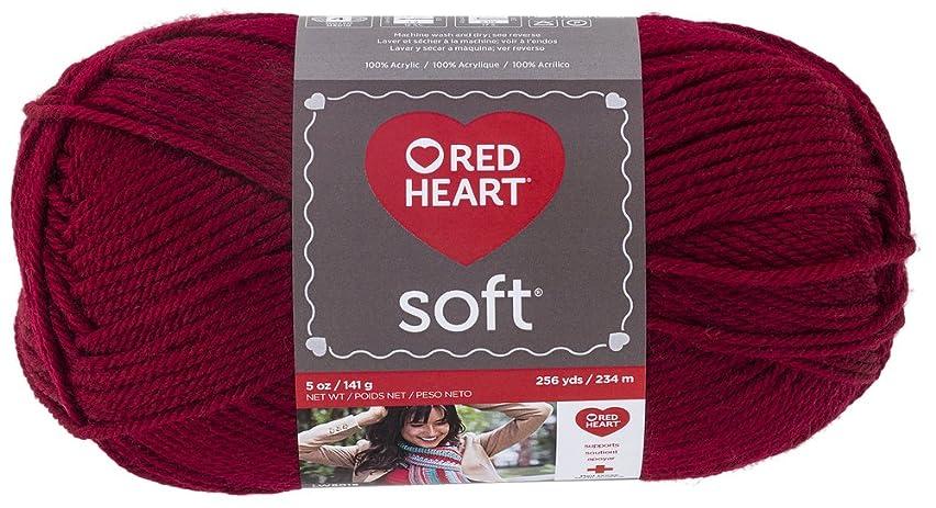 Red Heart  Soft Yarn, Wine - E728.4608