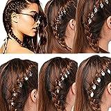 45 piezas trenzadas para el pelo, joyas, rastas, anillos, pinzas para el pelo, clips para el pelo, plateados, trenzas, accesorios para el pelo, para mujeres y hombres