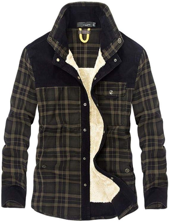 Camisa Casual cálida de Invierno de Marca Camisa de Hombre de ...
