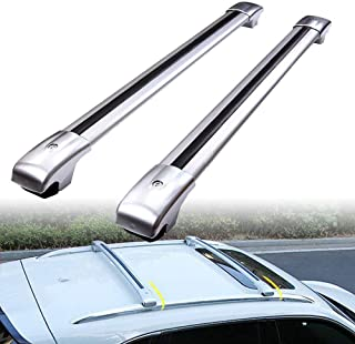 MotorFansClub Roof Rack Cross Bar Luggage Rack Carrier for Ford Escape 2013-2018 Top Cargo Bar Roof Rail with Cars Aluminum Alloy(US Stock)