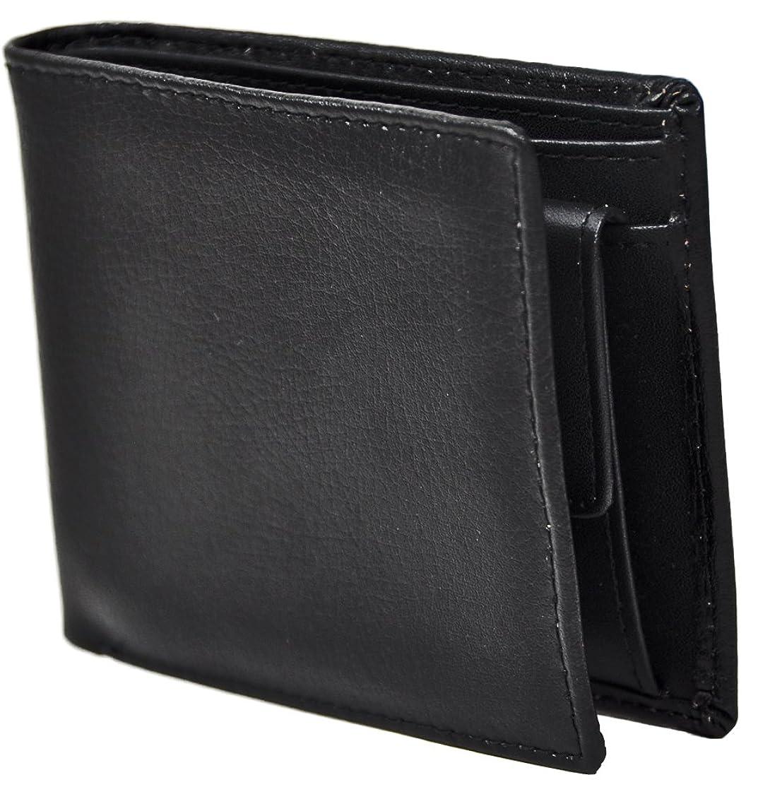 使用法ナイトスポット編集者牛床皮メンズ二つ折り財布