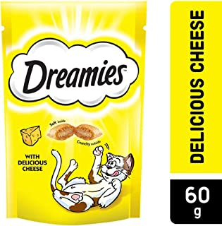 Dreamies Cat Treats, Cheese, 60 gm