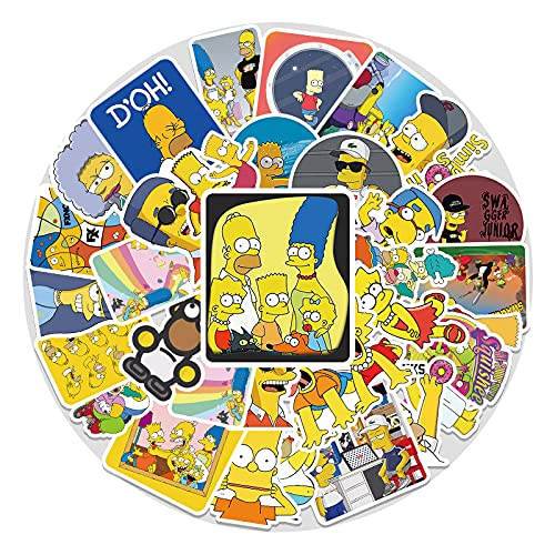 Anime Simpson Graffiti Pegatina Portátil Maleta Motocicleta Coche Teléfono Dibujos Animados Pegatinas 54 Piezas
