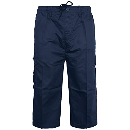 ca3c8bd4c14 Mens Plain Shorts   3 4 Three Quarter Length Shorts Cargo Combat Casual  Summer Beach