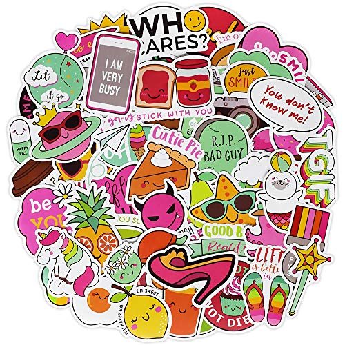 Cute Waterproof Vinyl Stickers for Laptop Water Bottles Hydro Flask Motorcycle Bicycle Skateboard Luggage Car Bumper Guitar Decals(100 Pcs Cute Style Stickers)