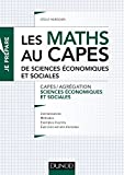 Les maths au CAPES de Sciences économiques et sociales - Capes/Agrégation Sciences économiques et sociales