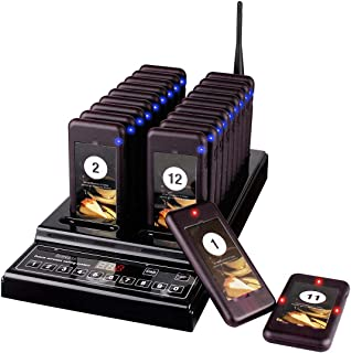 Retekess T112 Wireless Calling System Max 999 Pager Restaurant Paging System with 20 Pagers for Restaurants Church Clinic Food Truck