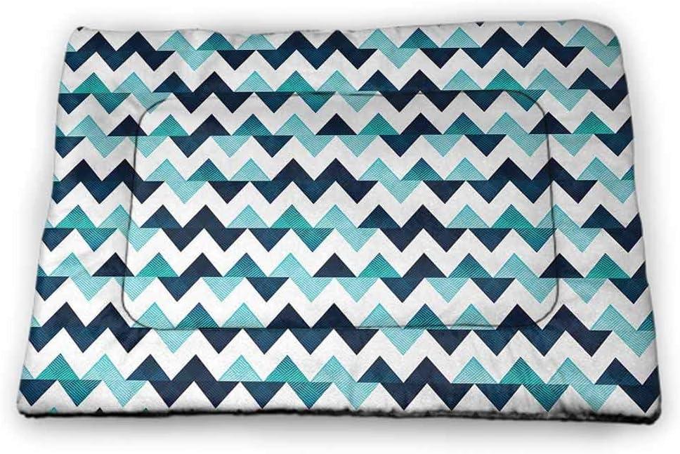 Nomorer Pet Bed Brand new Elegant Blue and White Washable Ha Machine Liner