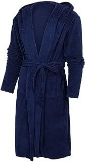 Women's Bathrobe, Lightweight Dressing Gown Flannel Soft Sleepwear Nightwear Ladies Loungewear with Pockets,Blue,XXXXL