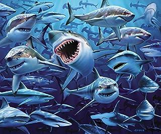 JGR Copa Wish You were Here Great White Shark Frenzy Beach Blanket Towel 54x68