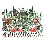 D DOLITY 519 pièces Jouet Soldat Figurine en Plastique 4cm Modèle de L'armée Combat Jouet Cadeau pour Enfants - 519 Pcs/Set