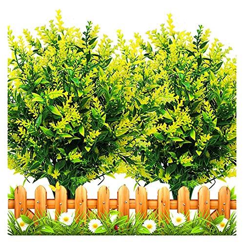 HONGER 10 Bundles Artificial Lavender Flowers UV Resistant Fake Bouquets Plastic Plants Fake Shrubs Greenery Bushes Bouquet to Brighten Up Your Home Kitchen Garden Indoor Outdoor Decor,C