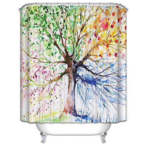 LAundNA Handgezeichnete Art-QualitŠts-Polyester-Gewebe-Badezimmer-Duschvorhang-kreative Hauptidee-Ausgangsdekoration , 1 , 180*180cm