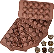 Silicone Chocolate Molds, Reusable Candy Baking Mold Ice Cube Trays Candies Making Supplies for Chocolates Hard Candy Cake...